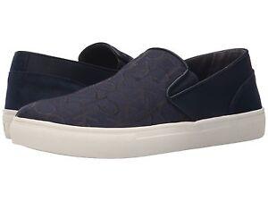 Mens Shoes Calvin Klein Phoenix Navy Logo Jacquard