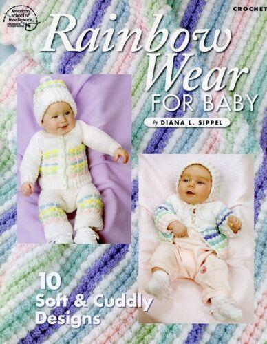Rainbow Wear for Baby 10 Designs Crochet Pattern//Instructions NEW
