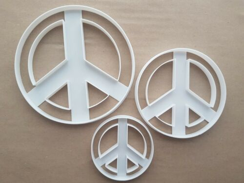 Peace Symbol Sign Shape Cookie Cutter Dough Biscuit Pastry Fondant Sharp