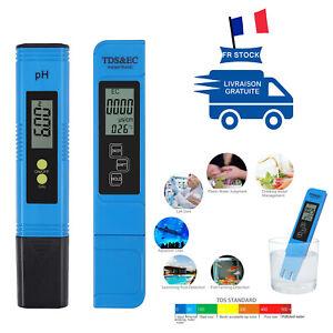 PH-mètre numérique + stylo testeur hydroponique de pureté de l'eau LCD TDS EC