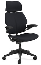 Humanscale Freedom F213 Graphite Fabric Advanced Duron Arms Office Desk Chair