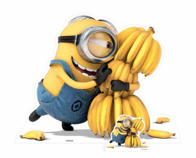 Minion Holding Bananas Despicable Me 3 With Mini Cardboard Cutout Minions