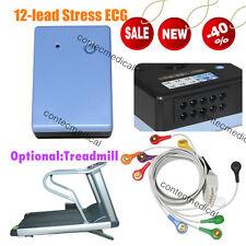 NEW 12-lead Stress ECG/EKG Monitoring Wireless Recorder System Software Analyzer