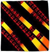 100% Silk Mens Pocket Square Hanky Rush Limbaugh No Boundaries Illusion Red