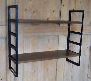 vintage 50 60s metal shelving unit mid century retro. Black Bedroom Furniture Sets. Home Design Ideas