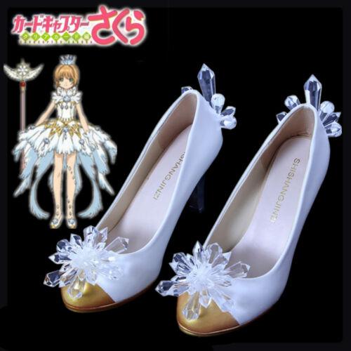 Clear Card Sakura Kinomoto cosplay sheos High heels cos Cardcaptor Sakura