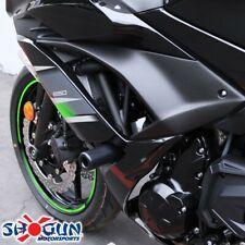 Fits 08-12 Kawasaki Ninja EX250R EX250 No Cut Frame Sliders Black T6 Aluminum