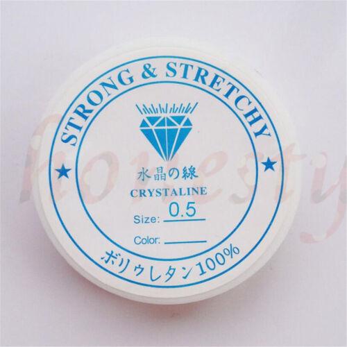 2//5 Roll Clear Elástico de cristal Stretchy Bead Bracelet Cuerda de hilo Cuerda
