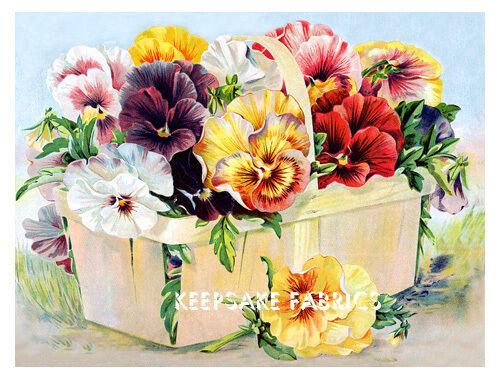 Beautiful Pansies Quilt Block Multi Sizes FrEE ShiPPinG WoRld WiDE (K88