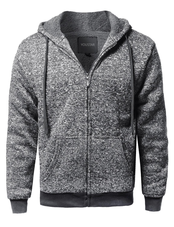 FashionOutfit Men/'s Classic Sherpa Lining Raglan Sleeve Color Blocked Hoodie