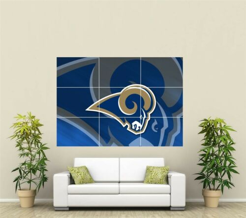 St Louis Rams Giant XL Section Wall Art Poster NFL128