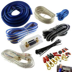 4 gauge premium blue power wire wiring kit 3000w install car rh ebay com au