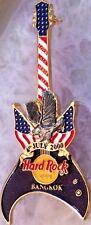 Hard Rock Cafe BANGKOK 2000 July 4th PIN Pewter EAGLE on R/W/B GUITAR - HRC #943