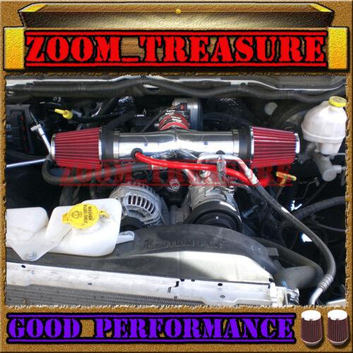 RED DUAL 2003-2009//03-09 DODGE RAM//DURANGO//ASPEN 5.7L V8 HEMI TWIN AIR INTAKE