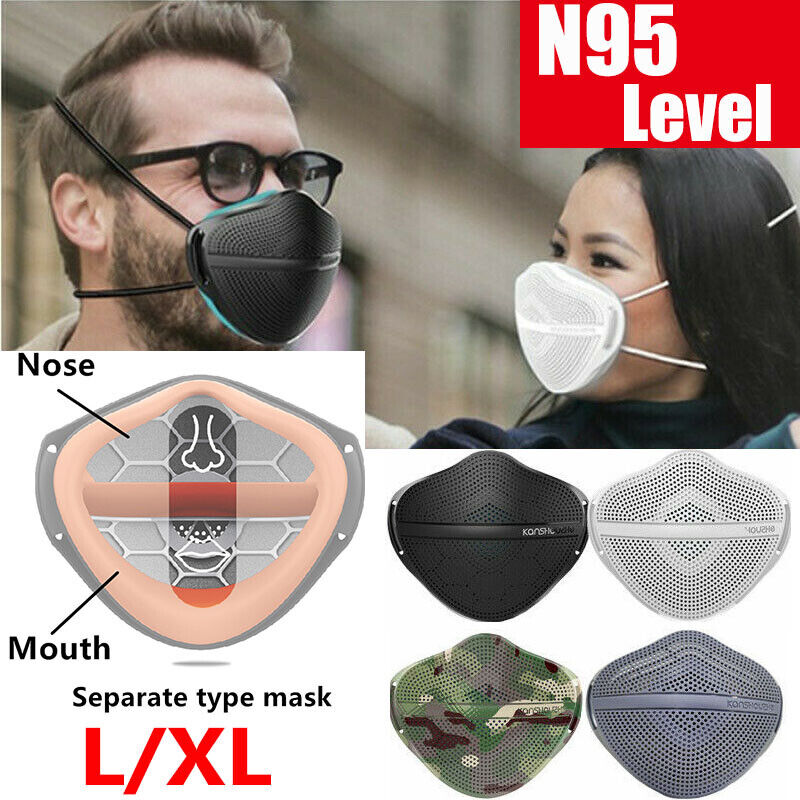 Protected Reusable Separate Nose Mouth Cover with Carbon Filter Purify Washable
