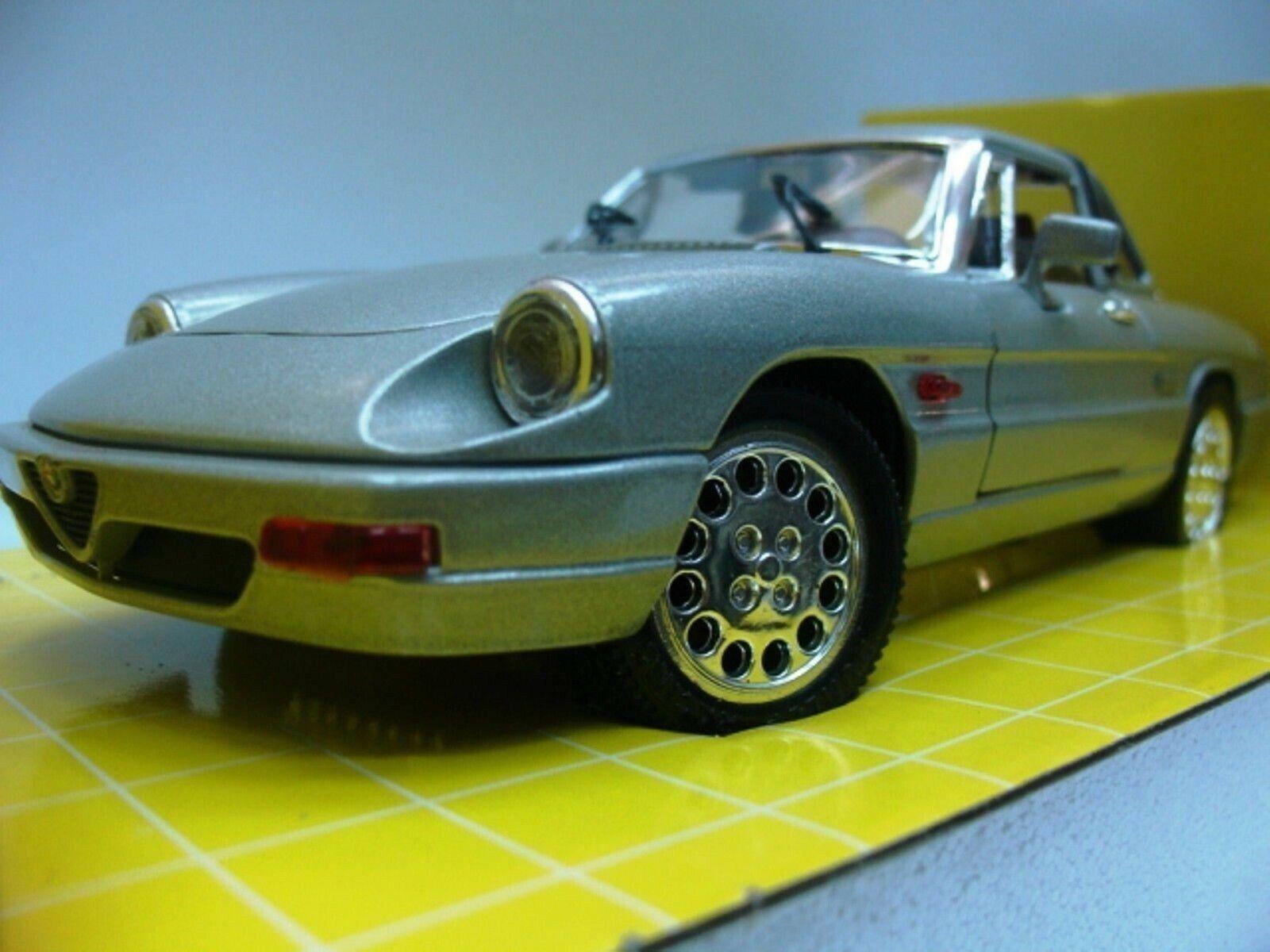 Wow extrêmement rare Alfa Romeo Spider S4 Duetto HT 1988 argent 1 18 Jouef Eagle's