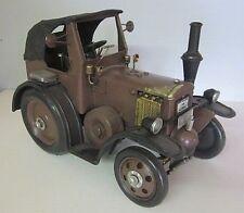 Traktor Lanz Bulldog braun Nostalgie Blechmodell,Trecker,Tractor Metall 29cm,(K)