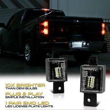 2pc Bright Led License Plate Light For Chevy Silverado Gmc Sierra 1500 2014 2018