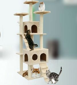 72 cat tree tower condo furniture scratching post pet. Black Bedroom Furniture Sets. Home Design Ideas