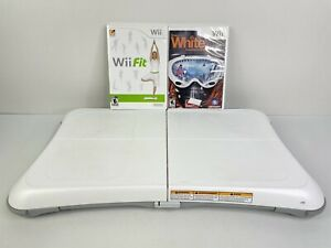Nintendo Wii Balance Board Bundle w/ 2 Games (Wii Fit & Snowboarding) TESTED
