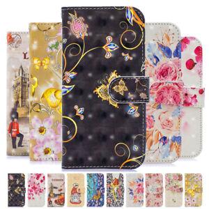 Pour-Samsung-Galaxy-S10-S9-S8-S7-3D-peint-en-cuir-Wallet-Case-Flip-Carte-Housse