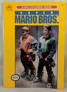 Details About Vintage Super Mario Brothers The Movie Coloring Book Rare Nintendo