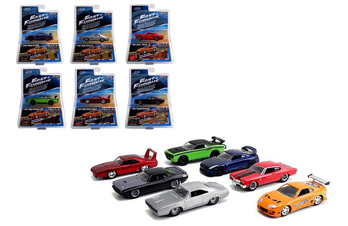 Jada Fast and Furious Assortment Set of 7 including Toyota Supra 1 55 Wave 2