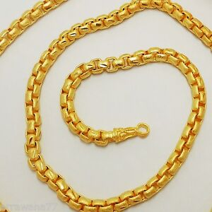 Chain 22K 23K 24K THAI BAHT GOLD GP NECKLACE 26 Inch 55 Grams