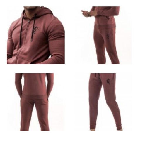 TBBRRED245 New GYM King 100/% Authentic Full Fleece Tracksuit Men/'s Rouge Ref