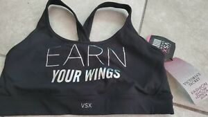 Victoria-Secret-LIGHTLY-LINED-SPORTS-BRA-Large-nwt-new-black
