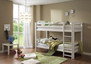 Etagenbett Wicky Buche Massiv Weiß Lackiert : Kinderzimmer hochbett massiv mit rutsche snoopy