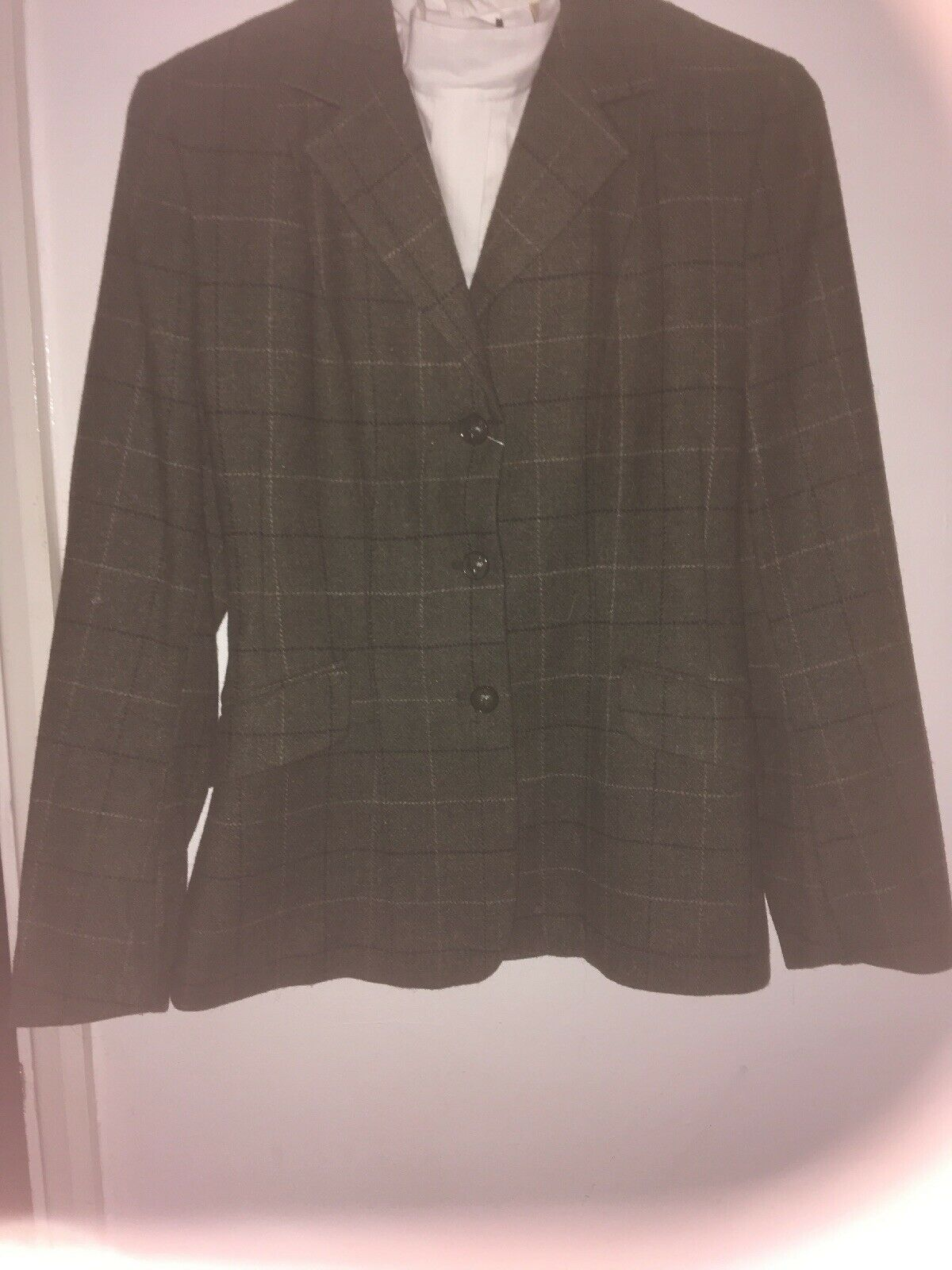 CALDENE verde  Tweed Chaqueta Talla 30   cómodamente