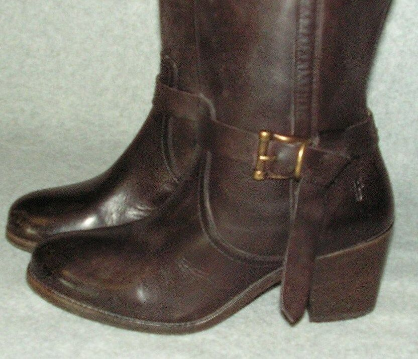 FRYE Women's Melissa Melissa Melissa Knotted Tall Boot 7 B   MSRP  398 color Redwood 9eb392