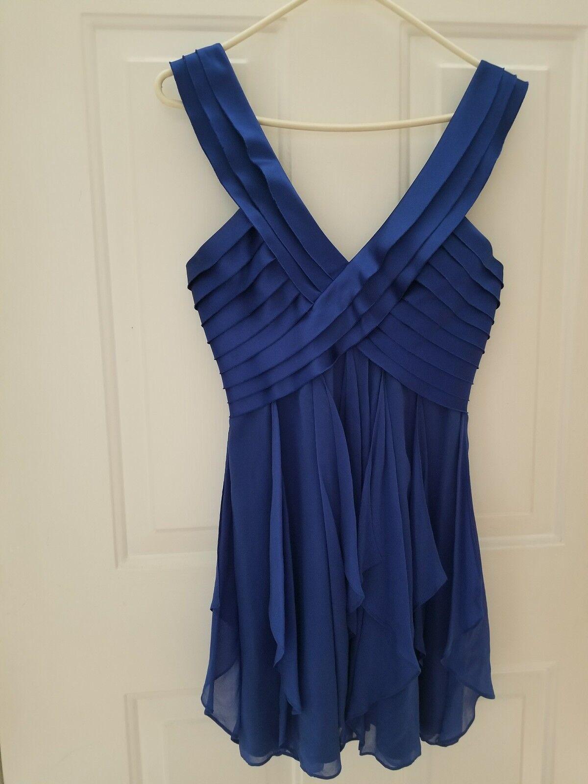 BCBG MAX AZRIA Sapphire bluee Silk Dress Sz 4