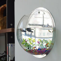 Wall Mount Hanging Fish Betta Aquarium Bowl Tank,creative Decoration, Beautify