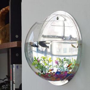 Wall Mount Hanging Fish Betta Aquarium Bowl Tank Creative