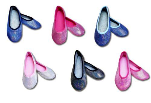 Girls Ballerina Lightweight Glitter Slip On Slippers Soft Size Child 7 to Adult4