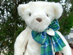 Vintage-1992-Gund-Victoria-039-s-Secret-White-Teddy-Bear-Plush-Stuffed-Animal-Toy