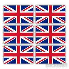6 x UNION JACK UK FLAG SMALL CAR BIKE HELMET WINDOW VINYL STICKERS DECALS 25mm
