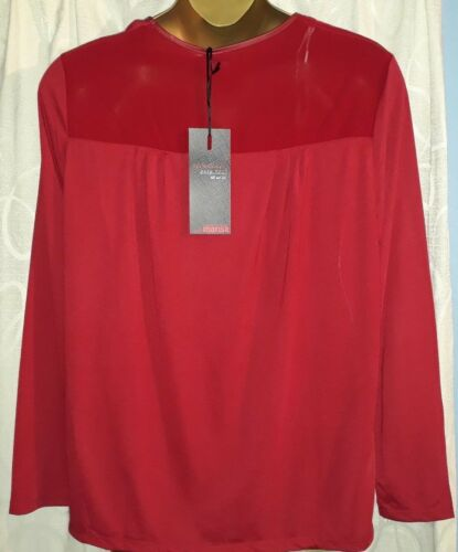 black or red Ladies plus size long sleeve tops sizes 20 to 24