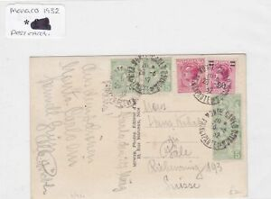 Monaco 1932 post card stamps Cover Ref 8839
