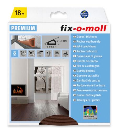0,61 M Fix-O-Moll D-Profildichtung Sk Brown 18m x 9mm
