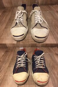 13c163284158 Lot of 2 Vintage Made in USA Converse Jack Purcell 80s 90s Sz 9.5-10 ...