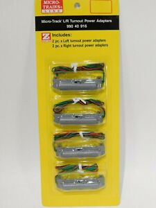 NEW-Micro-Trains-Z-Scale-L-R-Turnout-Power-Adapters-990-40-916-TOTES1