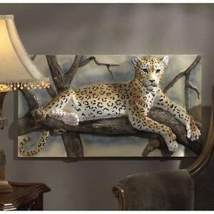 Leopards-Lair-33-034-Wide-Three-Dimensional-Design-Toscano-Sculptural-Wall-Frieze
