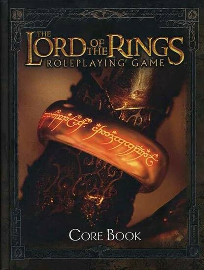 LORD OF THE RINGS ROLEPLAYING GAME w w w AWARDS VF  CORE BOOK HC J.R.R. Tolkien MERP 46f883