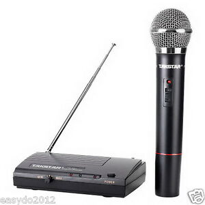 pro vhf simple to use wireless microphone system with handheld mic mike 757450805227 ebay. Black Bedroom Furniture Sets. Home Design Ideas