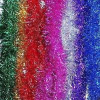 Christmas Xmas Tree party 2m Tinsel Pink Green Silver Gold Red Blue Decorations