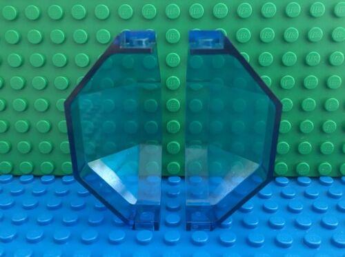 LEGO 2x Lot of Panel 3x3x6 Corner Convex Trans-Dark Blue Space Futuron 6850 6885