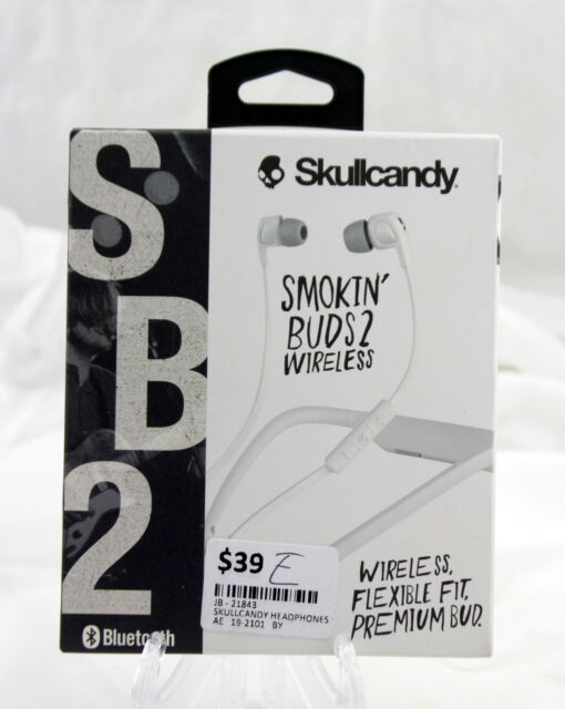 Skullcandy Smokin Buds 2 Wireless Headphones White Bluetooth for sale online   eBay